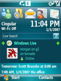 WM6 Home Screen