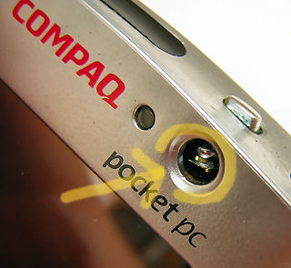 Compaq iPAQ 3650 Broken On-Off Button