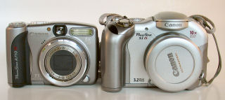 Canon PowerShot A710IS and S1 IS