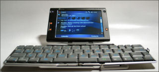 HTC Advantage with Thinkoutside Bluetooth Keyboard