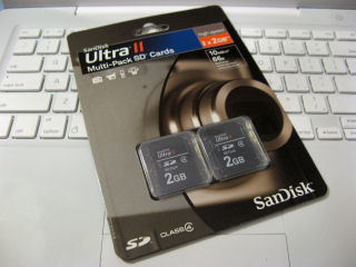 SanDisk Ultra II SD twin pack
