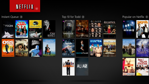 Netflix for Windows RT